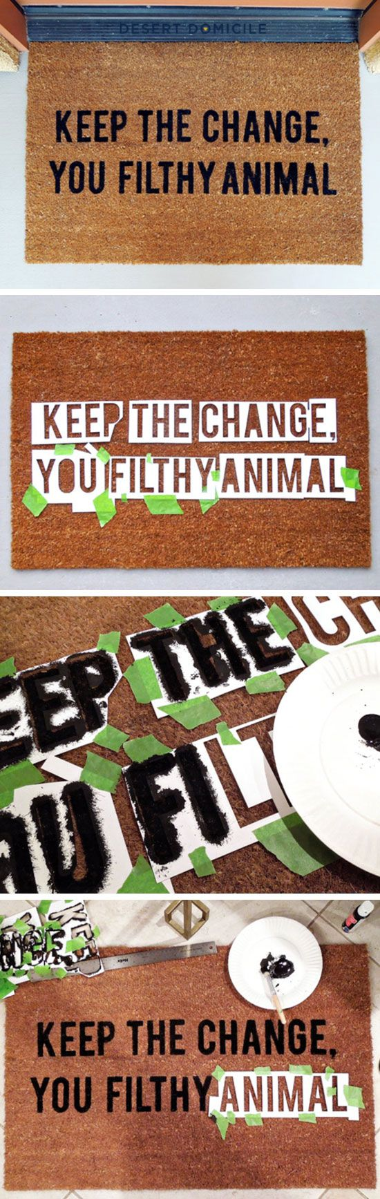 Home Alone Inspired Doormat | Click Pic for 21 DIY Christmas Outdoor Decorations…