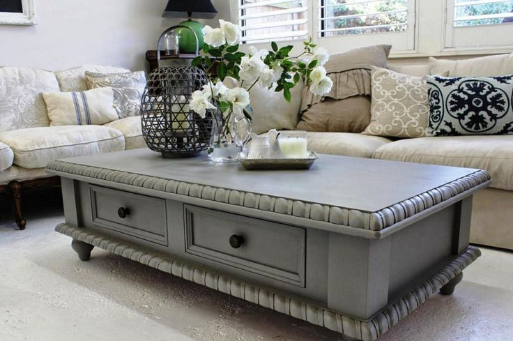 painting coffee tables ideas grey - Painted Coffee Tables Ideas for the Excellent Room Designing – Home Design