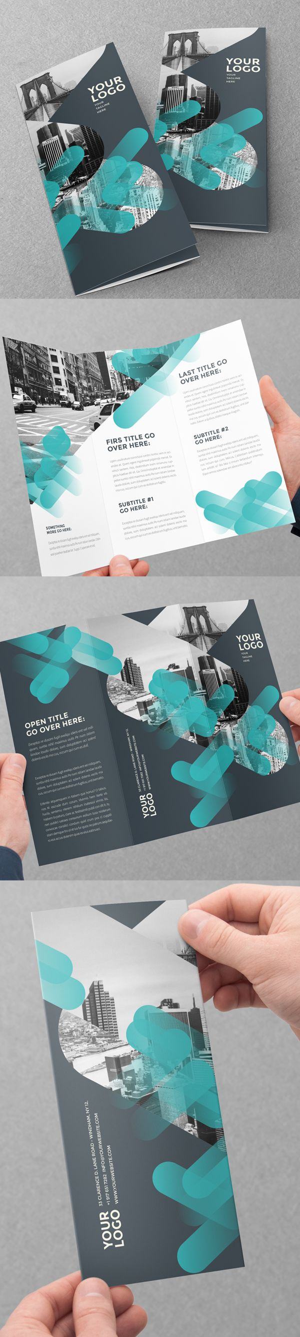 Modern Creative Tri-Fold Brochure Design #booklet #brochuredesign…