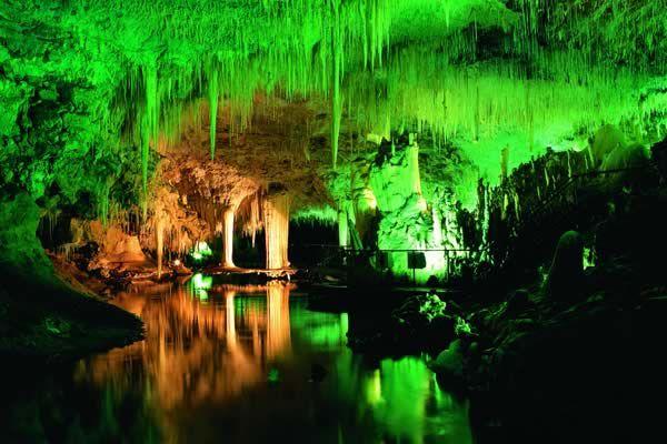 Lake cave near Margaret River in Western Australia.