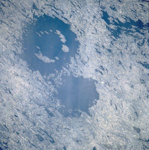 Le lac vu depuis la Station spatiale internationale