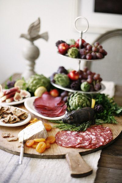 Charcuterie board | Entertaining with Haylie Duff | photos by Belathée Photography | Camille Styles