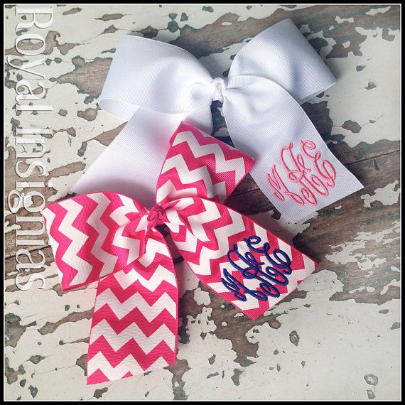 Hey, I found this really awesome Etsy listing at https://www.etsy.com/listing/178923366/classic-monogram-hair-bows-large