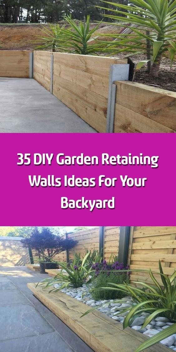 35 DIY Garden Retaining Walls Ideas For Your Backyard ...