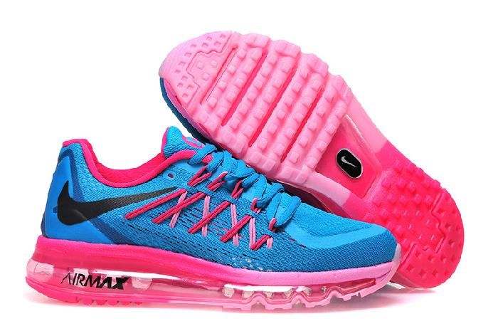 Nike Air Max 2015 on Sale Pink Blue Running Shoes