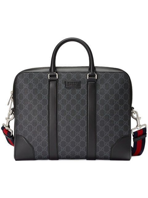 GUCCI GUCCI GG SUPREME BRIEFCASE - BLACK.  gucci  bags  shoulder bags  hand  bags  canvas  leather 0be2996c81026