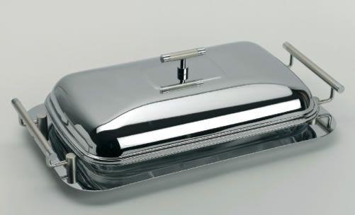 servizio da tavolo rettangolare in acciaio e vetro € 88,90