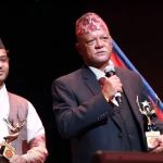 Senior actor Sunil Thapa grabs life time achievement award at FOG (With video)