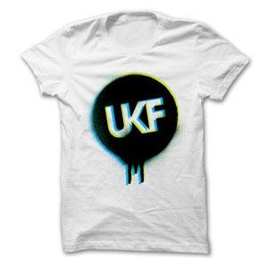 Image of UKF Spray Logo Tee Green / Blue