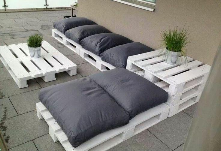 muebles hechos con palets plantas madera