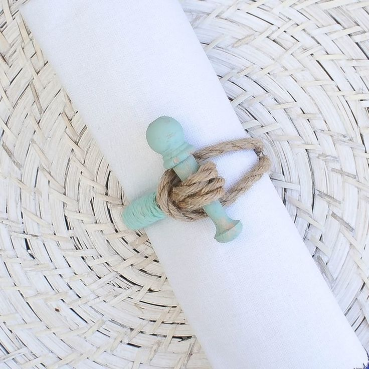 Features:  -Style: Coastal/Nautical.  -Handmade.  Country of Manufacture: -United States.  Product Type: -Napkin Ring.  Material: -Wood.  Set Size: -1. Dimensions:  Overall Height - Top to Bottom: -2.