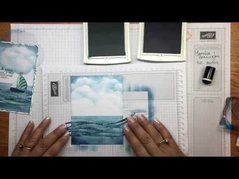 Stampin' Up products used to create a handmade card. Stamping, sponging and masking techniques are used. If you need any Stampin Up products you can find me ...