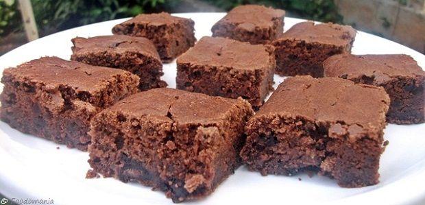 Chocolate Fudge Brownies #eggless