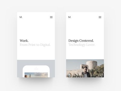 New Portfolio Site - Mobile