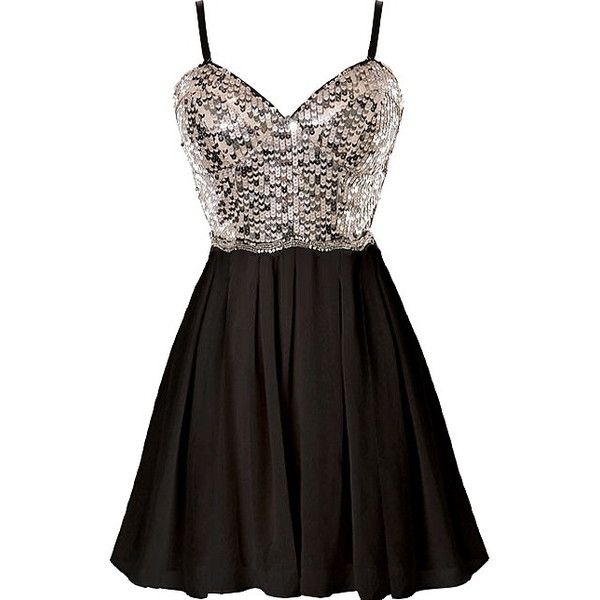 Waking Dream Dress ($100) ❤ liked on Polyvore featuring dresses, black sparkly dress, black chiffon dress, sweetheart neckline cocktail dress, chiffon cocktail dress and sparkly dresses