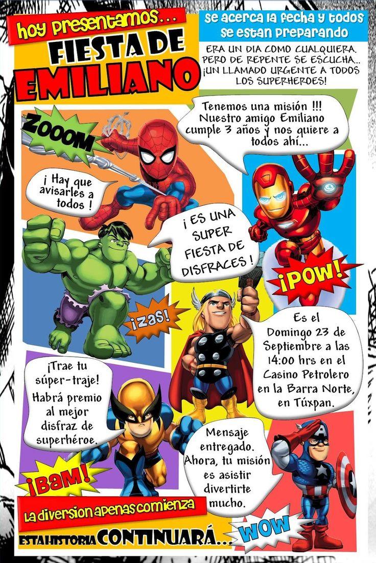 Kikita-Manualidades: Invitación Superhéroes