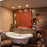 Transitional, Eclectic Bathroom
