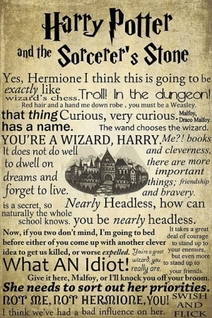 Harry Potter and the Sorcerer's Stone quotes. The bad thing is i can hear Daniel Radcliffe, Rupert Grint and Emma Watson saying all of them exactly like they do.