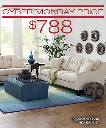 Cindy Crawfordu0027s Bryce Sofa Features Slim Track Arm Styling With An Exposed  Wood Base. Upholstered · Cyber Monday ...
