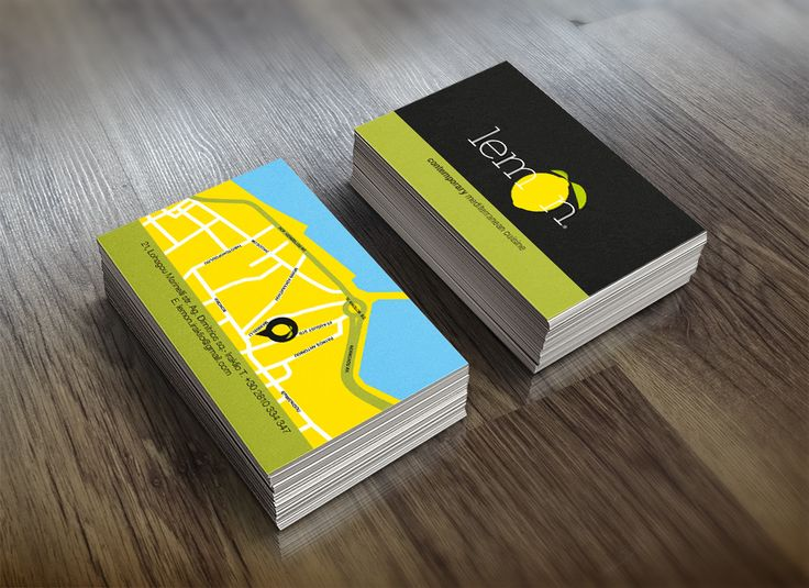Business Card for Lemon Restaurant