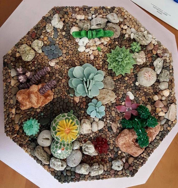 Mosaic cactus garden
