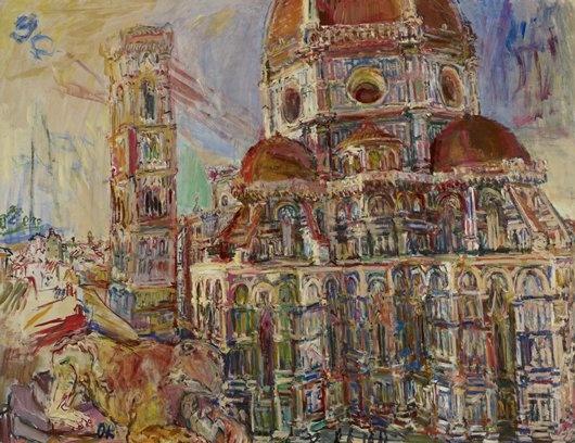 TITLE:The Duomo, Florence  ARTIST:Oskar Kokoschka  DATE:1948  MEDIUM:Oil on canvas  DIMENSIONS:38 x 49 1/2 in. (96.5 x 125.7 cm)  CREATION PLACE:Europe, Austria