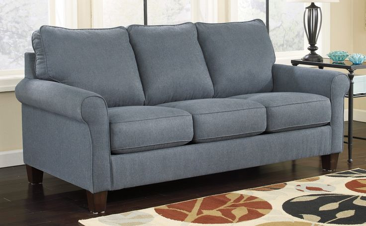 Signature zeth full sleeper sofa denim sleepers raleigh furniture home comfort furniture Home comfort furniture outlet raleigh nc