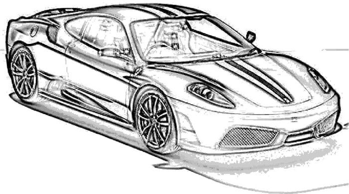 Colouring Pages Ferrari Car : Ferrari scuderia car coloring page pinterest