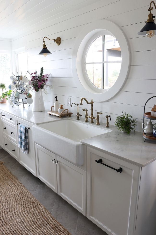 Round window - small kitchen remodel reveal