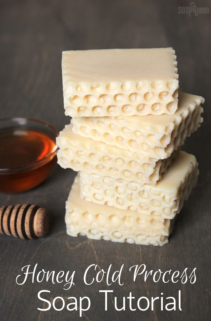Honey Cold Process Soap Tutorial // this soap contains real honey, and is scented with Pure Honey Fragrance Oil.