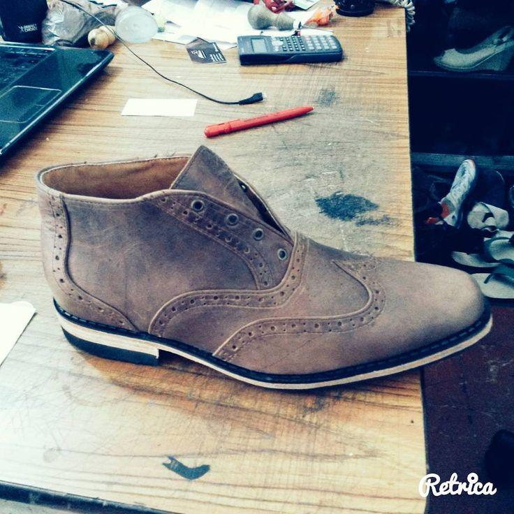 Hamdmade chukka shoes.... ready for shipping.