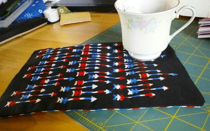 Mug rug using Cricut southwest cartridge and iron on