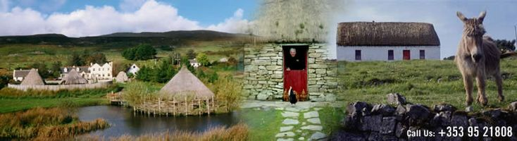 Traditional Irish scenes at Connemara Heritage and History Centre