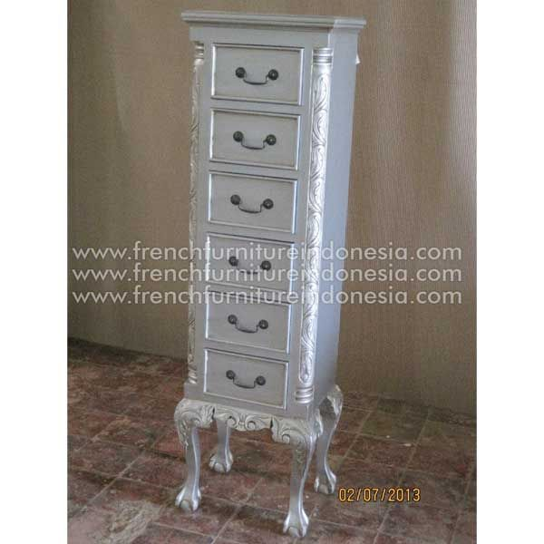 Order Lingerie 6 Drawer Chest from Jepara Furniture. We are reproduction furniture 100% exporter furniture manufacture with French Furniture style and high Quality Finishing.This Bedside is made from mahogany woods and design has a strong construction. #FrenchFurniture #HomeFurniture #ReproductionFurniture #IndonesiaFurniture #FurnitureOnline