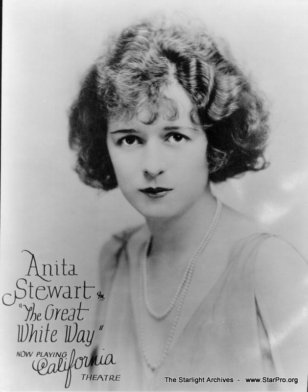 Anita Stewart was an American actress and film producer of the early silent film era.     Movies: Virtuous Wives, Never the Twain Shall Meet)   1895-1961