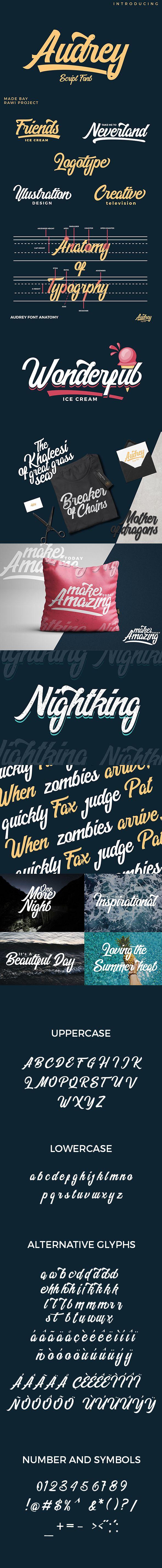 cursive fonts for wedding cards%0A Audrey Script Font