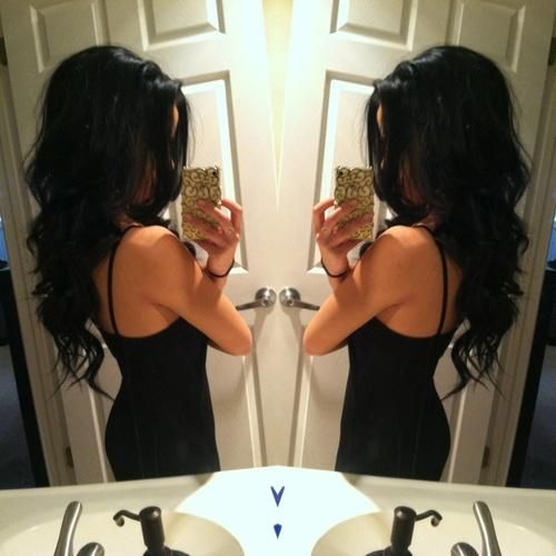 Why can't my hair look like this!!?? Want my black hair back..
