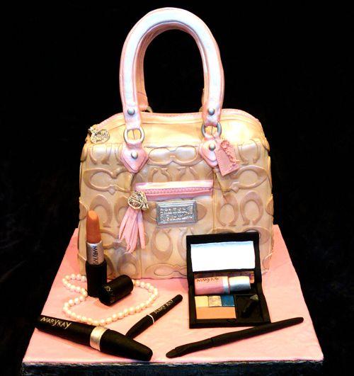 Easy Birthday Purse Cake   The Designer Cookie – Kim Kardashian magazine in this coach purse ...