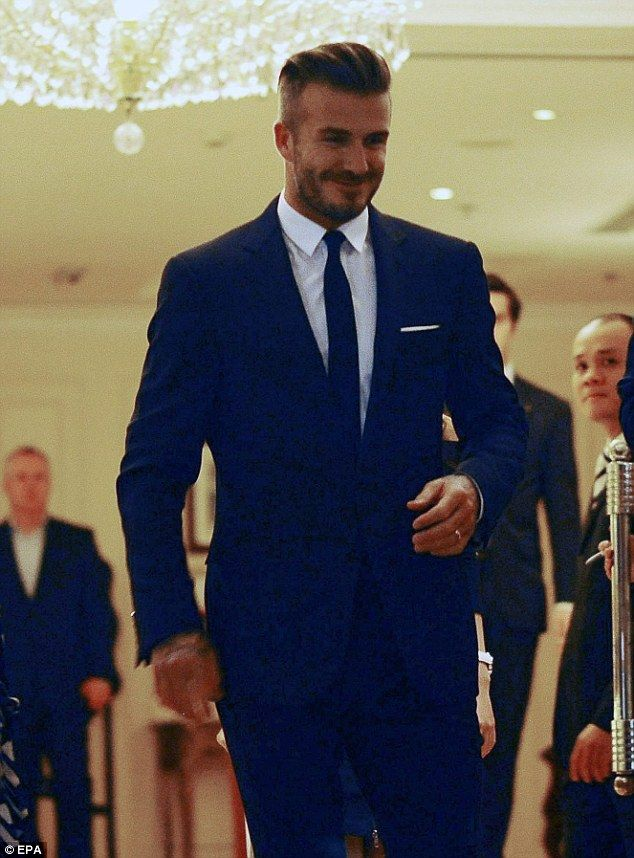 As dapper as ever! David Beckham looked handsome on Monday as he headed to dinner in Vietnam