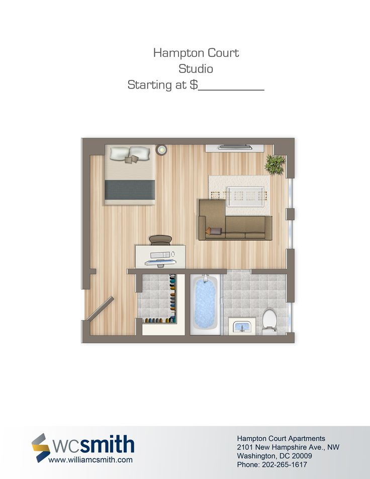 1000 images about hampton courts on pinterest other to work and the o 39 jays - Apartment studio floor plans ...