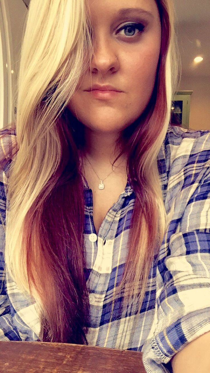Long Blonde Hair With Red Underneath Cool Hair Color