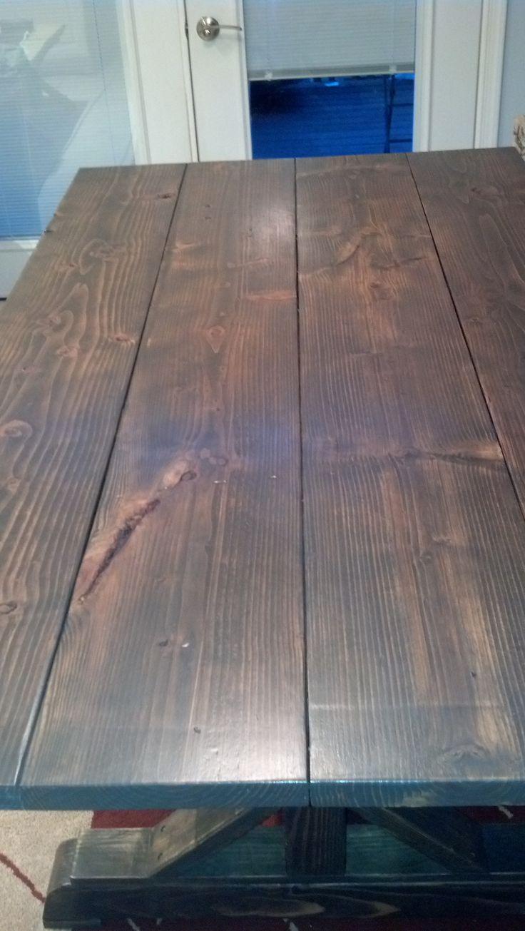 Dark walnut classic grey minwax stain equal parts for Classic wood floors