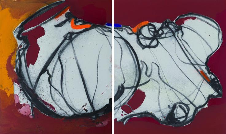 IL COLORE DELLA MADRE 60x50 e 60x50 cm tecnica mista su tela  2013