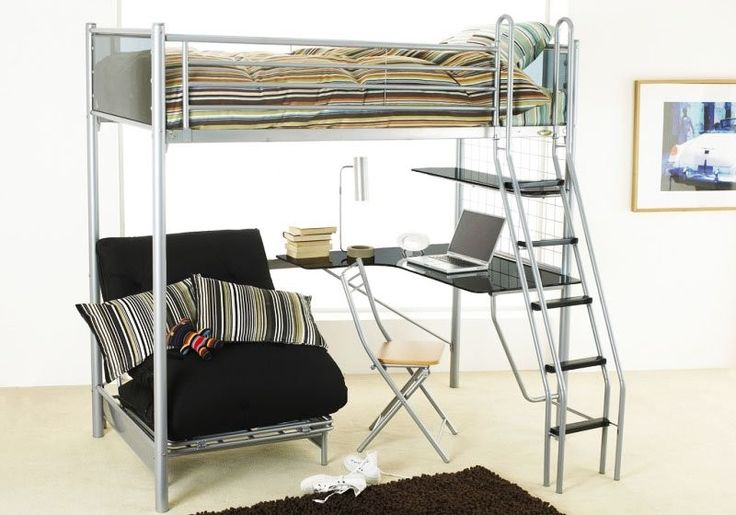 Loft Beds With Desk And Futon - Foter
