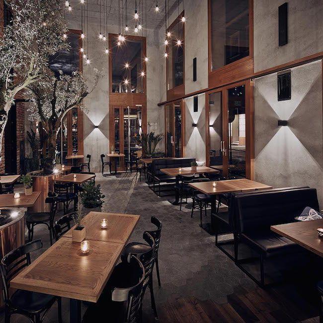 Płytki La Rambla - posadzka, restauracja Pl. Nowy Kraków