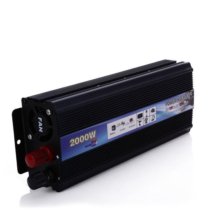 Professional 2000W W Car Inverter DC 12V to AC 220V Power Inverter Charger Converter Transformer  Vehicle Power Supply Switch * Find similar products on AliExpress website by clicking the image