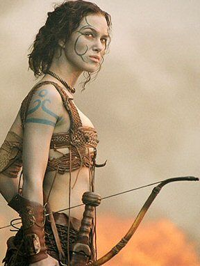 """Keira Knightly as a pretty accurate """"Woad"""" (Pict) in the film King Arthur"""