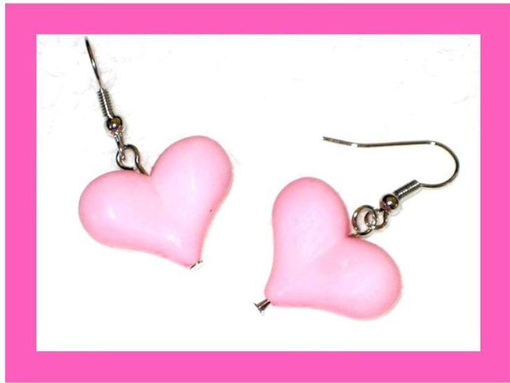 Roze Hart Oorbellen MWL Design van Oorbellen MWL Design - Ohrringe MWL Design - Earrings MWL Design op DaWanda.com