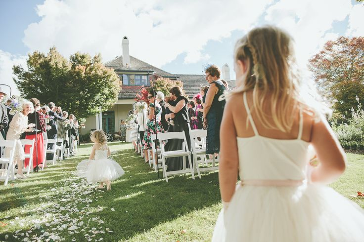 Garden wedding ceremony - Peppers Manor House Mose Vale NSW.