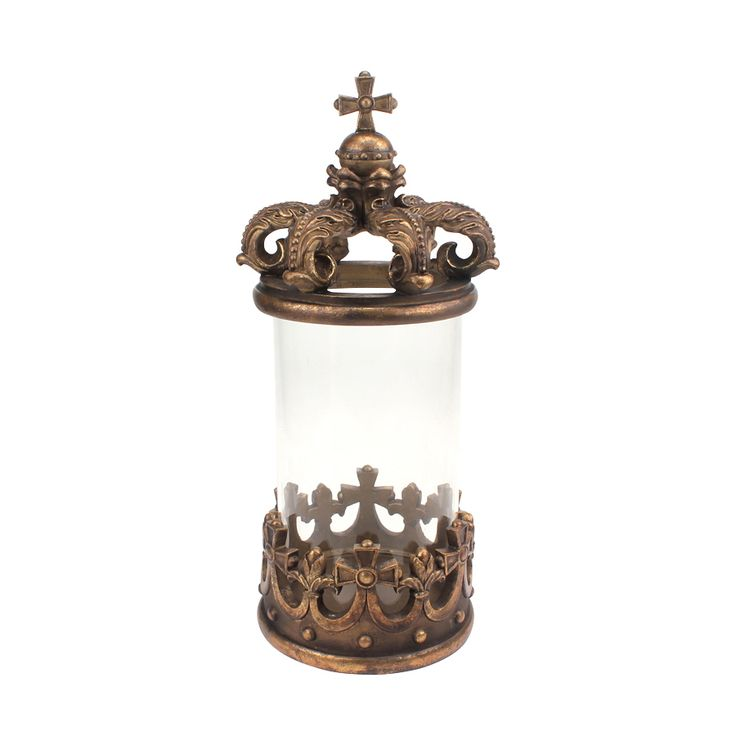 Pin By Karen Crawn On Home Decor: BURNISHED GOLD CROWN CANISTER